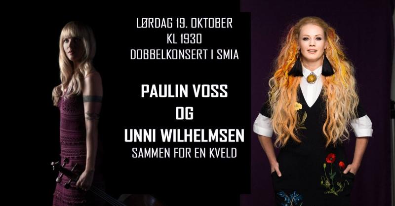 DRØBAK: <br> DOBBELTKONSERT UNNI WILHELMSEN og PAULIN VOSS m/band